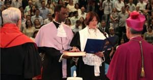 Em 2010, Ângela se tornou a primeira mulher a tomar posse como Reitora da PUC-Campinas – Foto: Divulgação/PUC-Campinas