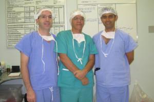 Figura 3 - Professores Ênio, Orlando e Ajith