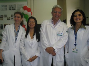 Fig. 8 - Médicas Clínicas do Transplante de Fígado: Andreza, Adriana e Fernanda