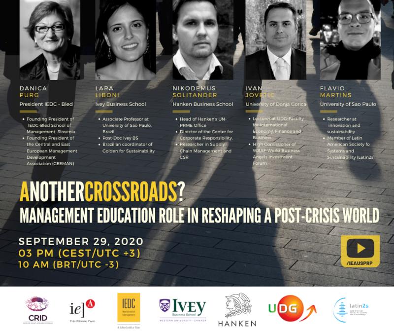 Conferência discute educação para gestão responsável no pós-pandemia