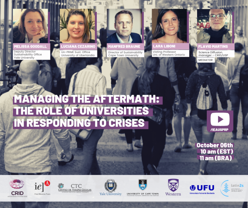 Evento on-line discute papel das universidades na solução de crises
