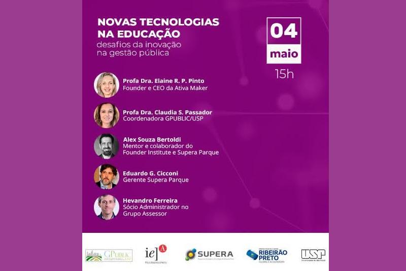 Webinar discute tecnologia na educação e inovação na gestão pública