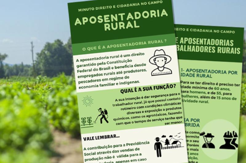 Material educativo informa sobre direito e cidadania para quem vive no campo