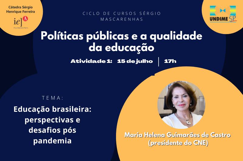 Primeiro curso da Cátedra Sérgio Henrique Ferreira começa nesta quinta