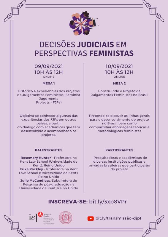 Oficina aborda reescrita de decisões judiciais sob visão feminista