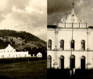 """Fotografias feitas por Mário de Andrade, em 1928: """"Catolé do Rocha"""" (esq.) e """" Catolé do Rocha / Paraíba / Convento"""" (dir.). (Legendas do autor). (Montagem Dif. Cultural, IEB/USP) (Arquivo IEB/USP)  (crédito: Difusão Cultural - IEB/USP)"""