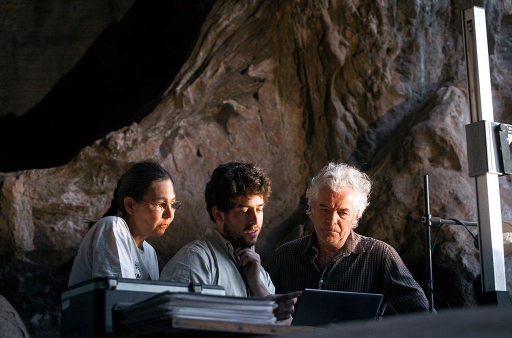 Profs. Dr. André Strauss, Dra. Rita Scheel-Ybert e Dr. Luís Beethoven Piló na Lapa do Santo