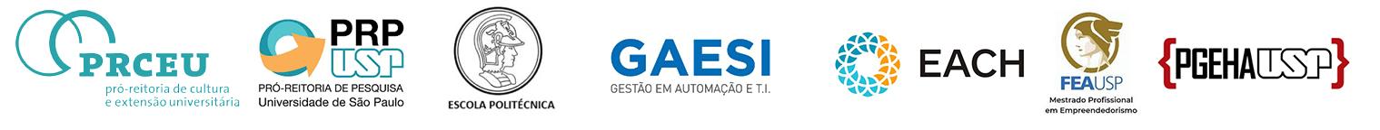 Pro-Reitoria de Cultura e Extensão, Pró-Reitoria de Pesquisa, Escola Politécnica, GAESI, EACH , MPE-FEA e PGEHA (USP).