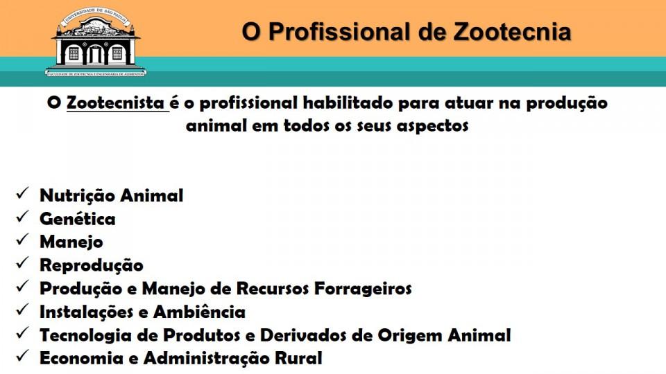 O Curso De Zootecnia Departamento De Zootecnia